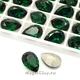 Стразы Люкс Капля 14х10мм, цвет Emerald, 1шт