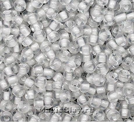 Бисер чешский 8/0 Кристалл, 38602 White, 50гр