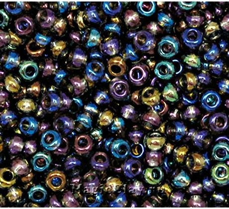 Бисер чешский 10/0 Прозрачный, 41010 Cobalt Blue, 50гр