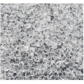 Бисер чешский Farfalle 4х2 Прозрачный, 00050 Crystal