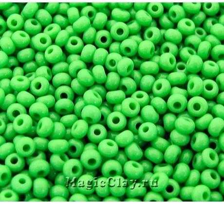 Бисер чешский 8/0 Непрозрачный, 53210 Light Green, 50гр