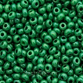 Бисер чешский 10/0 Непрозрачный, 53233 Green, 41гр