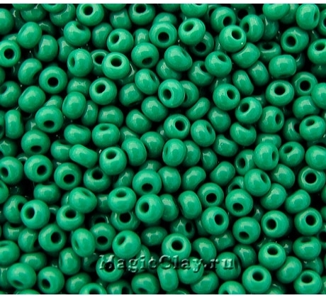Бисер чешский 8/0 Непрозрачный, 53240 Medium Green, 50гр