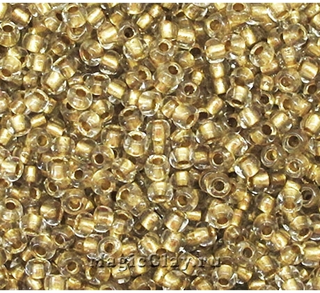 Бисер чешский 10/0 Кристалл, 68106 Bronze, 50гр