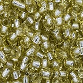 Бисер чешский 10/0 Кристалл, 78151 Yellow-Green, 41гр