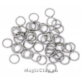 Колечки разъемные, цвет серебро стальное 3х0,6мм, 1уп (~500шт)