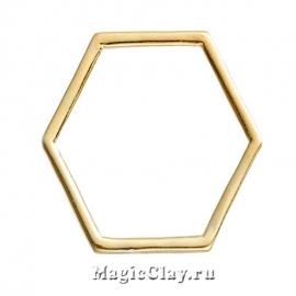 Коннектор Фигура 23х20мм, цвет золото, 10шт