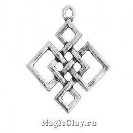 Подвеска Символ 32х28мм, цвет серебро, 1шт