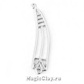 Коннектор Аркаим 40х10мм, цвет серебро, 1шт
