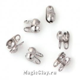 Концевики для цепочек с шариками 1,5мм, сталь, 10шт