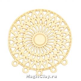Филигрань Кружевница 24мм, цвет золото, 1шт
