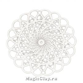 Филигрань Ажур Плетение 30мм, цвет стальной, 1шт