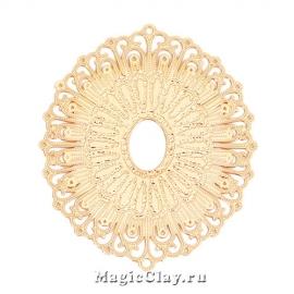 Филигрань Византия 34х29мм, цвет золото, 1шт