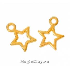 Подвеска Звезда 13х10мм, цвет золото, 10шт