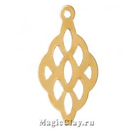 Филигрань Медовые Капли 20х11мм, цвет золото, 10шт