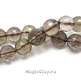 Бусины Кварц дымчатый, граненый 10 мм, 1 нить (~39шт)