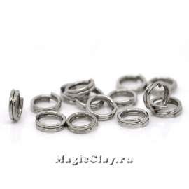 Колечки двойные 5х1мм, сталь, 1уп (~50шт)