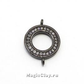 Коннектор Кольцо 14х20мм, цвет черная сталь, 1шт