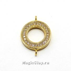Коннектор Кольцо 14х20мм, Real Gold, 1шт