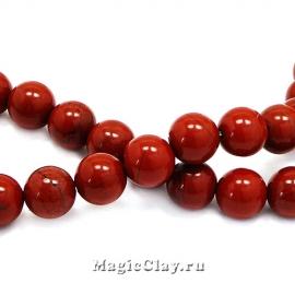 Бусины Яшма красная 8мм, Grade A, 1нить (~45шт)