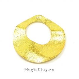 Подвеска Круг Искра 33мм, цвет золото, 1шт