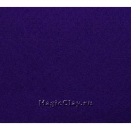 Фетр жёсткий Корея 1,2мм, 26*33мм, цвет Синий Темный