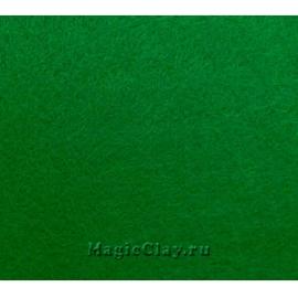 Фетр жёсткий Корея 1,2мм, 26*33мм, цвет Зеленый