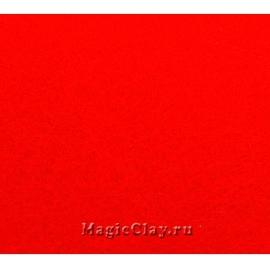 Фетр жёсткий Корея 1,2мм, 26*33мм, цвет Красный