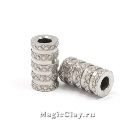 Бусина металлическая Атлантида 11х6мм, сталь, 1шт