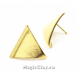 Швензы гвоздики Геометрия Треугольник, Real 18K Gold