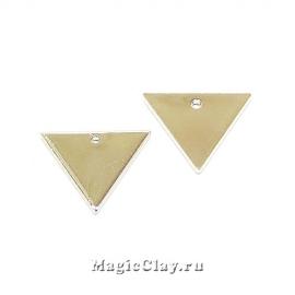 Подвеска Треугольник 14х12мм, Real Platinum, 5шт
