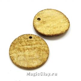 Подвески из кокосового ореха, Мумбаи 35мм, 5шт