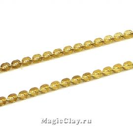 Цепочка Бостон Круг звенья 2x2мм, сталь, цвет золото, 1м