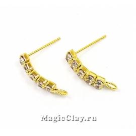 Швензы гвоздики Искры 17,5х14мм, цвет золото, 1пара