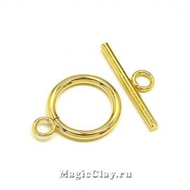 Замок Тоггл Кольцо 16х21, сталь, цвет золото, 1шт