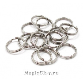 Колечки двойные 8х1мм, сталь, 1уп (~30шт)
