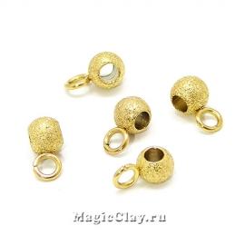 Бейлы Звездная Пыль 7х4мм, сталь, цвет золото, 1шт
