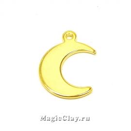 Подвеска Луна 15х11мм, сталь, цвет золото, 5шт