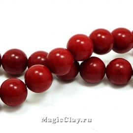 Бусины Коралл синтет. 12мм, цвет красный, 10шт