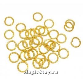 Колечки разъемные, цвет золото 5х1мм, латунь 1уп (~100шт)