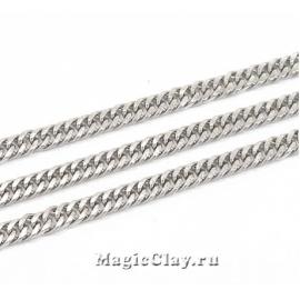 Цепочка Панцирная звенья 3х1,5мм, сталь, 1м