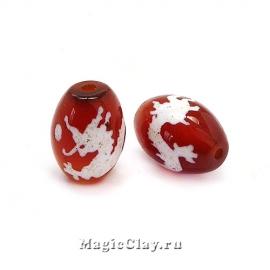 Бусины Дзи агат Дракон, красный 14х10мм, 1шт