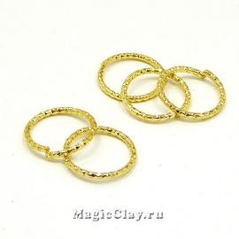 Колечки Декоративные разъемные, золото 18K, 12х1мм, 5шт
