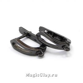 Швензы Муза 17х13мм, цвет черная сталь, 1пара