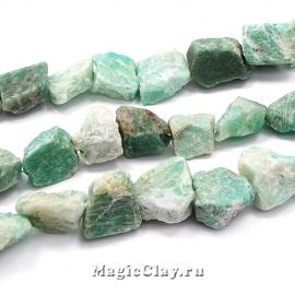 Амазонит натуральный Камень 12-18x11-20мм, 1нить (~13шт)