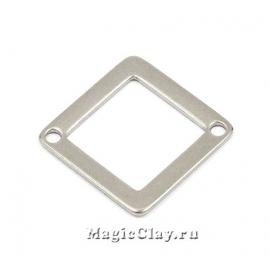Коннектор Ромб Рамка 18х18мм, сталь, 10шт