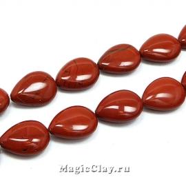 Бусины Яшма красная, капля 18х13мм, 1шт