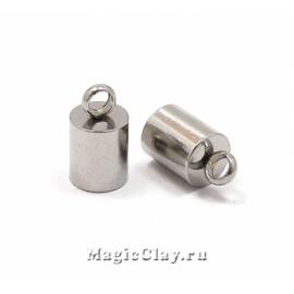 Концевик с ушком 9х5мм, сталь, 2шт