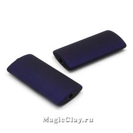 Бусины акриловые Прямоугольник 40х19мм, Синий, 1шт