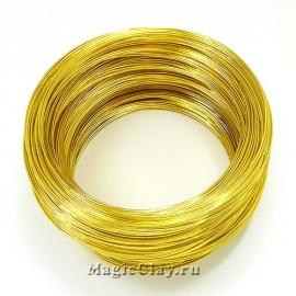 Проволока Мемори для колье 115х1мм, золото, 20 витков